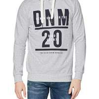 Tom Tailor Denim Men's Hoodie Mit Print Hooded Sweatshirt