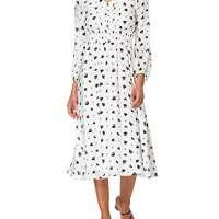 Armani Exchange Women's White GR. Black HEA Sundress