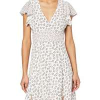 French Connection Women's Aura Drape VNCK Dress WSplits Casual