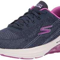 Skechers Women's Go Run Air Silver Sparkle Sneaker